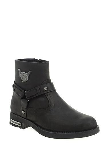 Hammer Jack Kısa Topuklu Bot Siyah